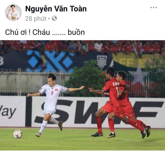 Sau trận gặp Myanmar, Trọng Toàn than buồn, Văn Hậu lặng lẽ vào facebook trọng tài biên thả like bài cũ - Ảnh 1.