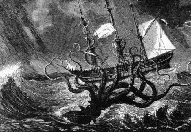 Mực khổng lồ nước sâu, hiện thân của quái thú Kraken - Ảnh 1.