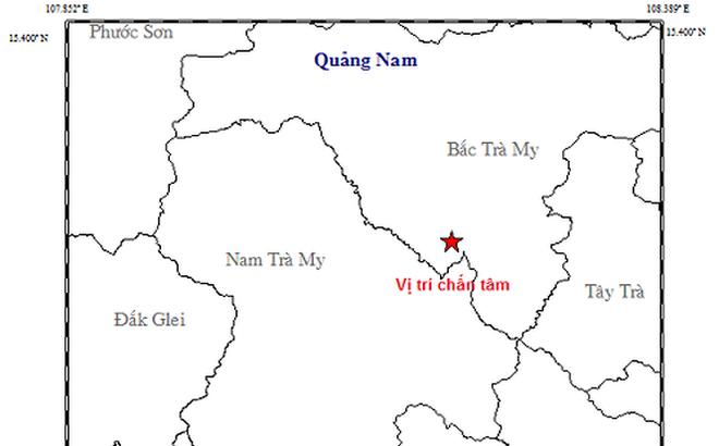 Khu vực thủy điện Sông Tranh 2 lại xảy ra động đất