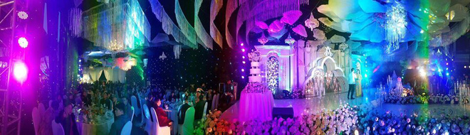 Cô dâu đeo vàng nặng trĩu trong đám cưới chi 2,5 tỷ tiền bắc rạp, trang trí 100% hoa tươi - Ảnh 6.