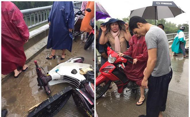 """Thanh niên chạy xe máy đâm vào thành cầu, lao xuống sông và """"khoảnh khắc xuất thần"""" lan tỏa khắp mạng xã hội"""