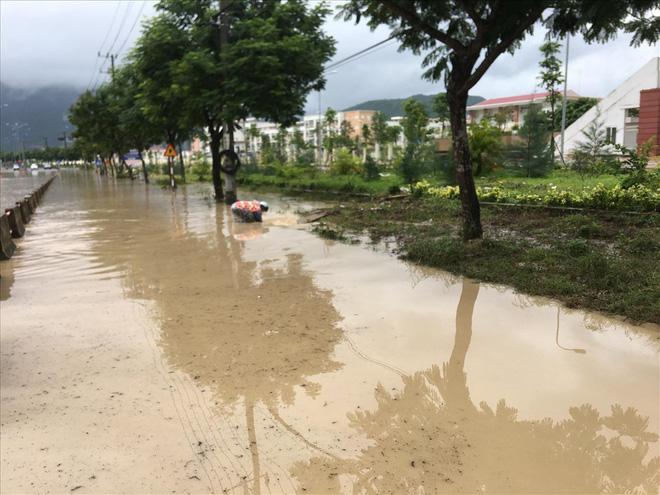 Bão số 9 đổ bộ: Khánh Hòa khắp nơi sạt lở, tắc đường, ngập cục bộ - Ảnh 1.