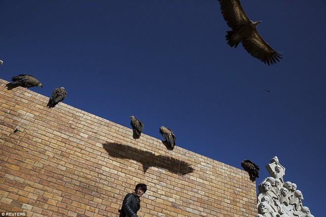 Ngôi mộ bầu trời - tục mai táng rùng rợn của người Tây Tạng - Ảnh 4.