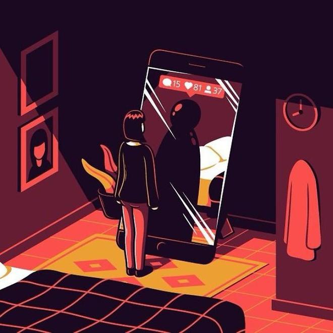 Tranh biếm họa về thói quen dùng mạng xã hội của con người - Ảnh 8.