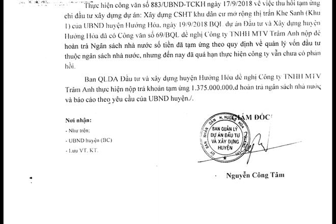 Quảng Trị: Ưu ái con trai, bao che nhà thầu, Phó bí thư huyện Hướng Hóa bị mất chức - Ảnh 2.