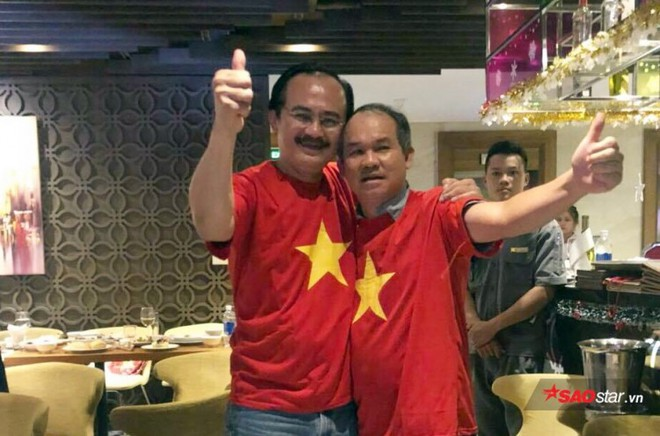 Xúc động trước hình ảnh bầu Đức, bầu Thắng ăn mừng Việt Nam vô địch - Ảnh 1.