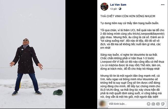 MC Lại Văn Sâm không ngủ được vì thương HLV Mourinho bị MU sa thải - Ảnh 1.
