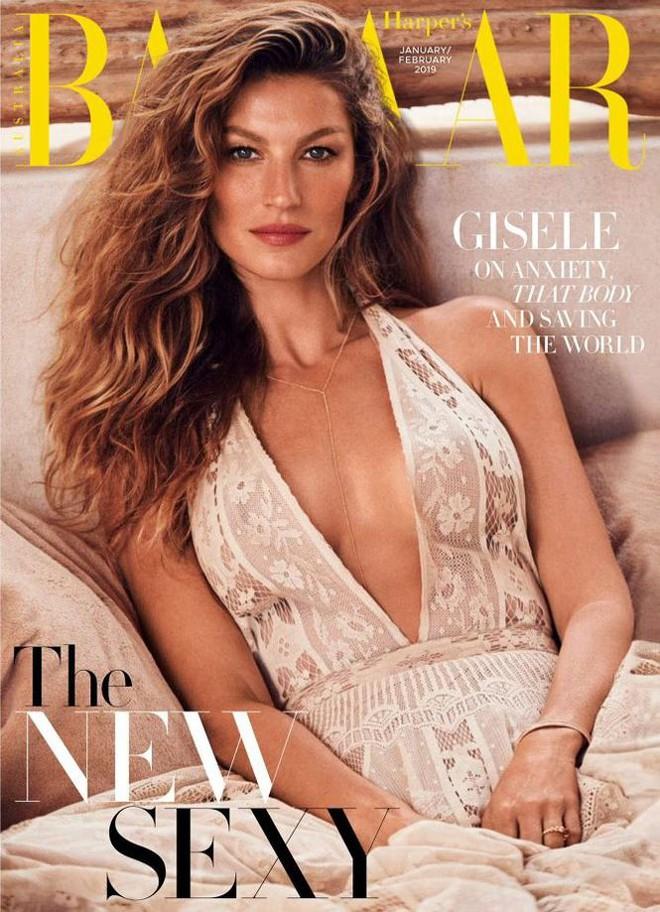 Siêu mẫu đắt giá Gisele Bundchen khoe dáng tuyệt mỹ trên tạp chí - Ảnh 1.