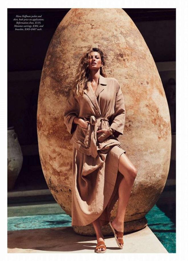 Siêu mẫu đắt giá Gisele Bundchen khoe dáng tuyệt mỹ trên tạp chí - Ảnh 5.