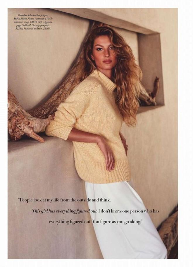 Siêu mẫu đắt giá Gisele Bundchen khoe dáng tuyệt mỹ trên tạp chí - Ảnh 8.