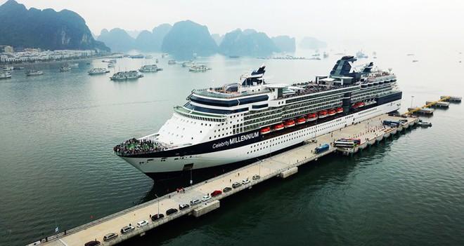 Ảnh: Cận cảnh hai du thuyền 5 sao chở gần 8.000 du khách quốc tế đến Hạ Long - Ảnh 13.