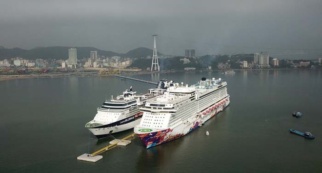 Ảnh: Cận cảnh hai du thuyền 5 sao chở gần 8.000 du khách quốc tế đến Hạ Long - Ảnh 5.