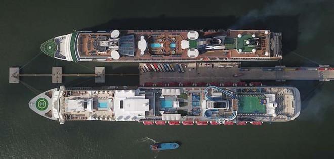 Ảnh: Cận cảnh hai du thuyền 5 sao chở gần 8.000 du khách quốc tế đến Hạ Long - Ảnh 8.