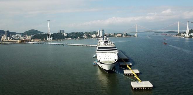 Ảnh: Cận cảnh hai du thuyền 5 sao chở gần 8.000 du khách quốc tế đến Hạ Long - Ảnh 9.