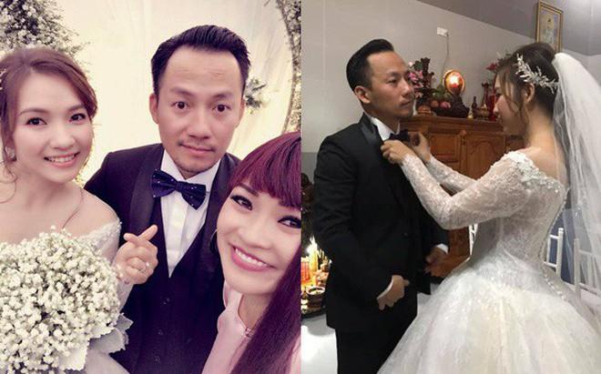 Rapper Tiến Đạt rạng rỡ bên cô dâu 9X trong đám cưới tại quê nhà