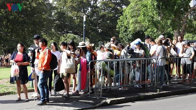 Sydney: Hàng trăm ngàn người xếp hàng lấy chỗ xem pháo hoa năm mới - Ảnh 4.