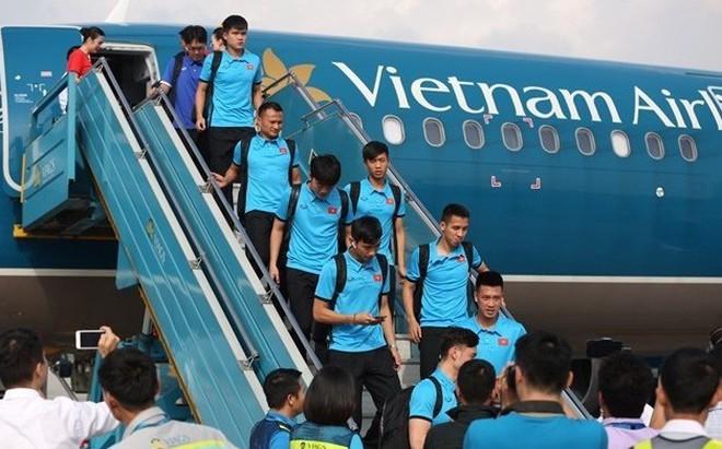 Lịch bay của đội tuyển Việt Nam sang Malaysia chuẩn bị cho trận chung kết AFF Cup 2018
