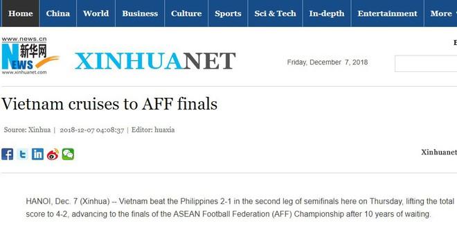 """Tân Hoa Xã - Trung Quốc: """"Việt Nam đá như dạo chơi vẫn vào chung kết AFF Cup!"""" - Ảnh 1."""