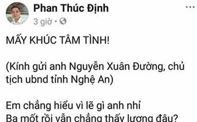 Thầy giáo làm thơ gửi Chủ tịch tỉnh Nghệ An vì bị chậm lương gây xôn xao
