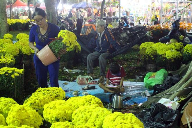 Sát tết hoa còn tồn nhiều, chủ vựa ở Sài Gòn treo biển than thở sao vào chụp hình hoài vậy - Ảnh 1.