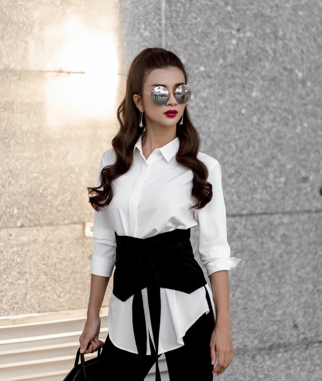 Kim Tuyến ăn mặc quyến rũ, sang chảnh đi dạo phố dịp cuối năm - Ảnh 10.