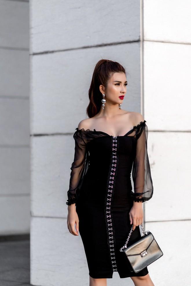 Kim Tuyến ăn mặc quyến rũ, sang chảnh đi dạo phố dịp cuối năm - Ảnh 6.