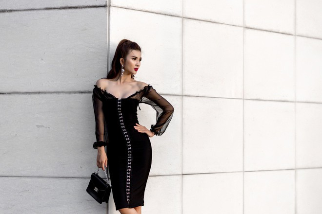 Kim Tuyến ăn mặc quyến rũ, sang chảnh đi dạo phố dịp cuối năm - Ảnh 5.