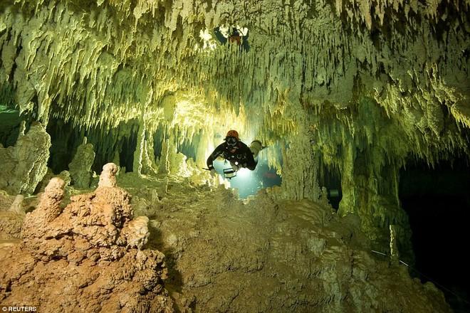 Lặn xuống hang động lớn nhất thế giới, phát hiện thế giới bí ẩn của người Maya - Ảnh 1.