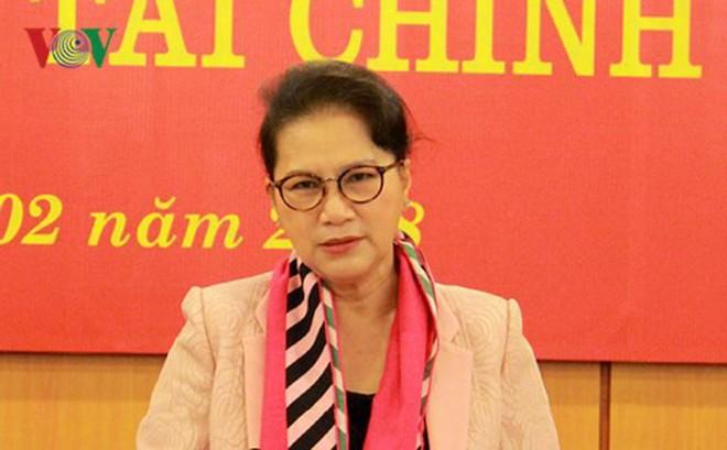 Chủ tịch Quốc hội Nguyễn Thị Kim Ngân làm việc với Bộ Tài chính