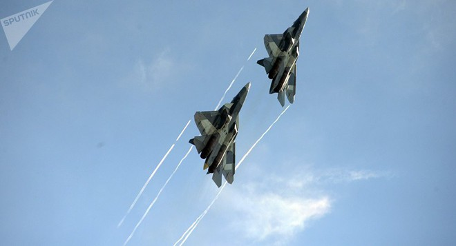 Tiêm kích Su-57 Nga sẽ xuất kích ồ ạt ở Syria: Mỹ-NATO phấn khích chờ xem kịch hay? - Ảnh 2.