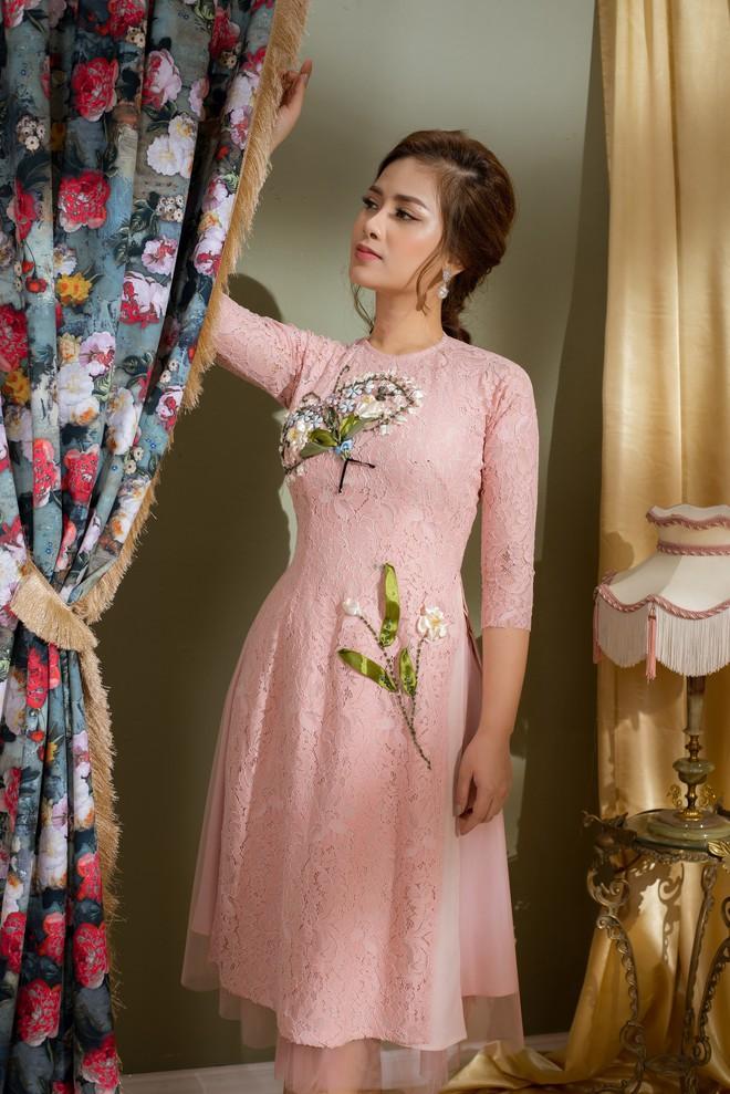 Vẻ đẹp nữ tính của Dương Hoàng Yến khi diện áo dài cách tân - Ảnh 6.