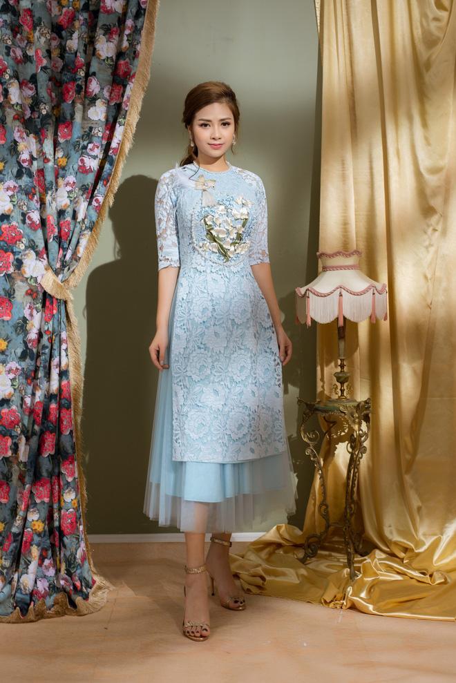 Vẻ đẹp nữ tính của Dương Hoàng Yến khi diện áo dài cách tân - Ảnh 3.