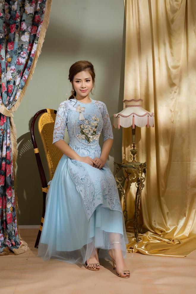 Vẻ đẹp nữ tính của Dương Hoàng Yến khi diện áo dài cách tân - Ảnh 4.