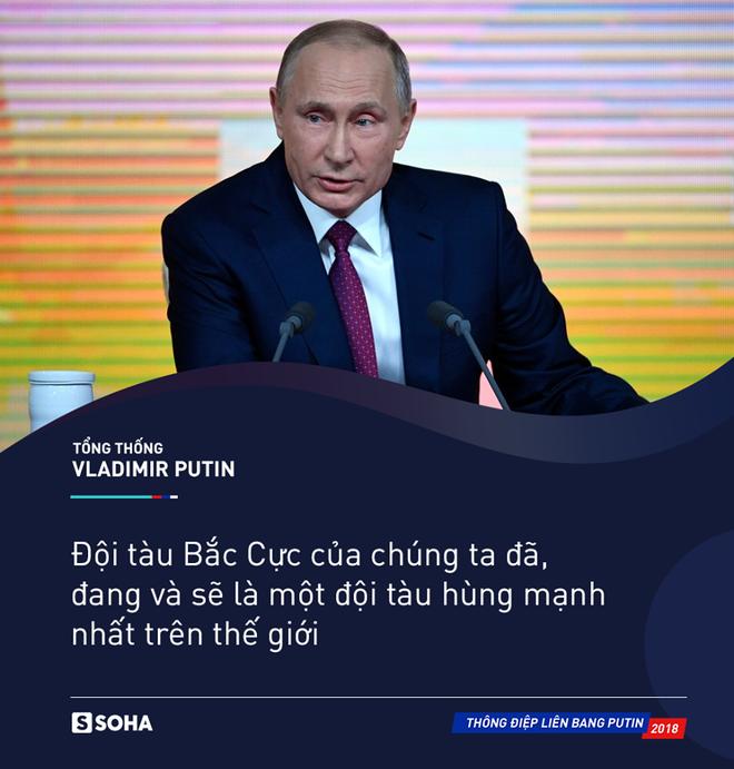 Thông điệp liên bang 2018: Khoe vũ khí tối tân, ông Putin thức tỉnh bất kỳ kẻ xâm lược nào - Ảnh 8.