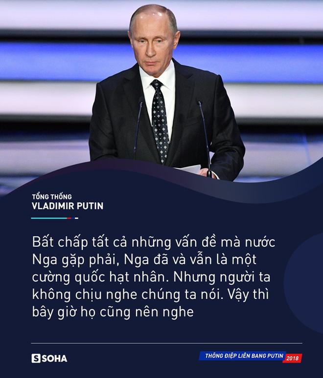 Thông điệp liên bang 2018: Khoe vũ khí tối tân, ông Putin thức tỉnh bất kỳ kẻ xâm lược nào - Ảnh 13.