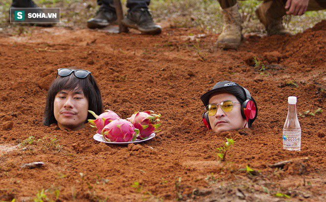 Huy Khánh, Kiều Minh Tuấn bị chôn sống trên phim trường Lật mặt 3