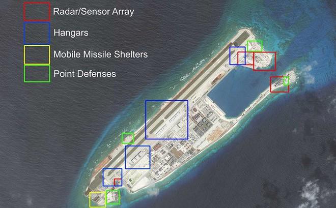 """Báo Mỹ: Đảo nhân tạo Trung Quốc trên Biển Đông """"khó sống sót"""" khi có biến"""