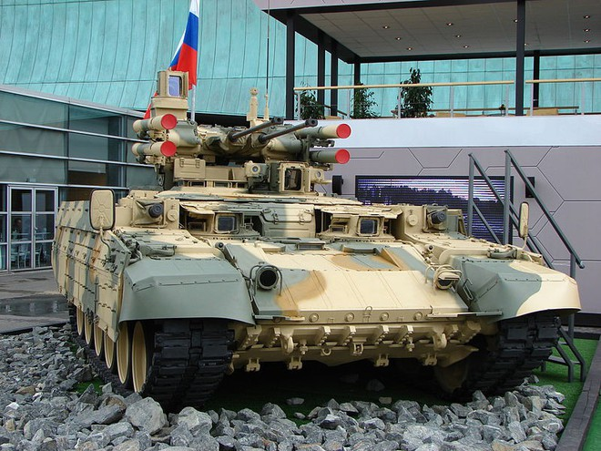 Nga chốt cấu hình sản xuất hàng loạt cho xe chiến đấu hỗ trợ tăng BMPT - Ảnh 1.
