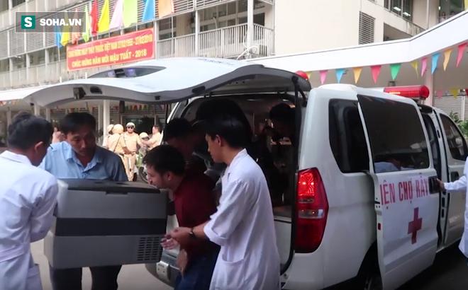 Vận chuyển trái tim phổi của người cho chết não xuyên Việt cứu sống bệnh nhân