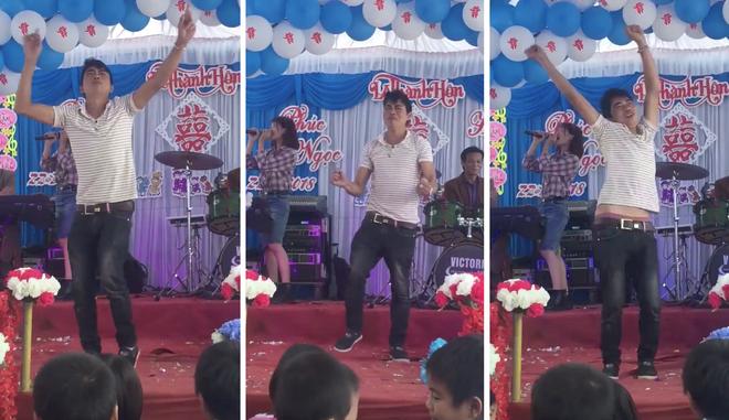 Clip: Gái hát hay trai nhảy giỏi mừng đám cưới khiến quan viên vừa lo ăn cỗ vừa lo nhặt mồm - Ảnh 2.