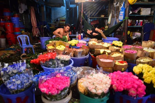 Chợ hoa lớn nhất Sài Gòn đèn sáng suốt đêm trước ngày 8/3 - Ảnh 1.