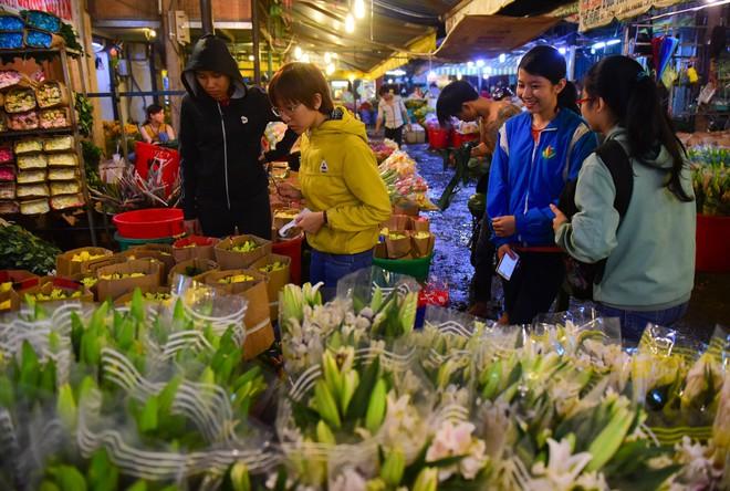 Chợ hoa lớn nhất Sài Gòn đèn sáng suốt đêm trước ngày 8/3 - Ảnh 6.