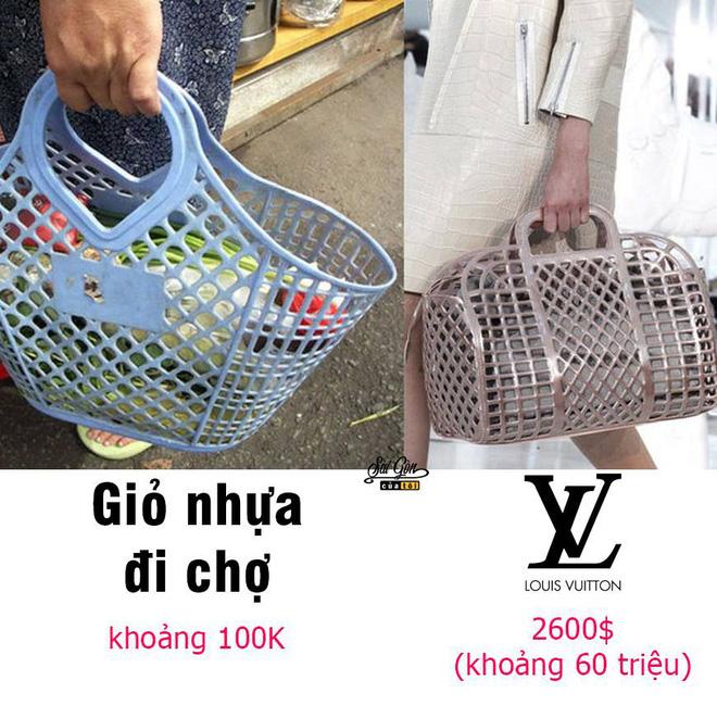Chiếc bao tay rửa bát, giỏ nhựa đi chợ bỗng thành...đồ hàng hiệu giá gần trăm triệu - Ảnh 3.