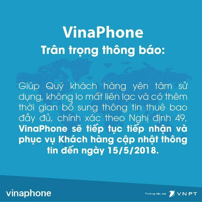 Vỡ trận đăng ký thông tin thuê bao: VinaPhone, MobiFone thông báo lùi thời hạn bổ sung thông tin - Ảnh 1.
