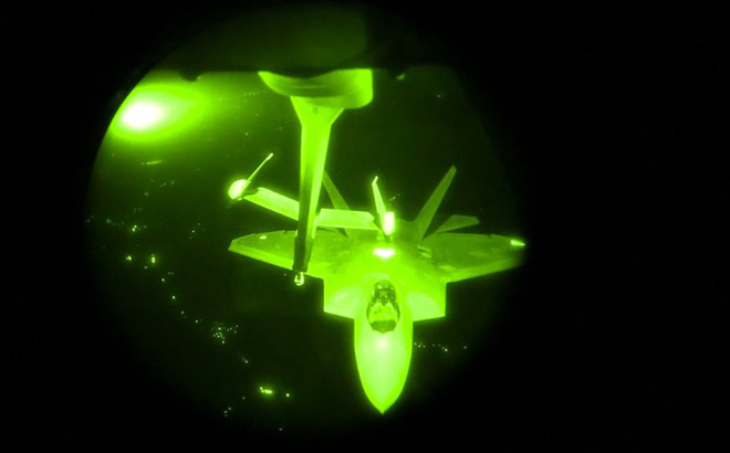 Hành tung bí ẩn củachiến cơF-22khi Mỹ không kích Syria