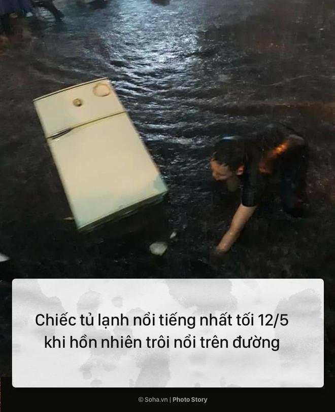 [PHOTO STORY] 10 hình ảnh ấn tượng nhất tại Hà Nội trong cơn mưa lớn tối 12/5 - Ảnh 2.