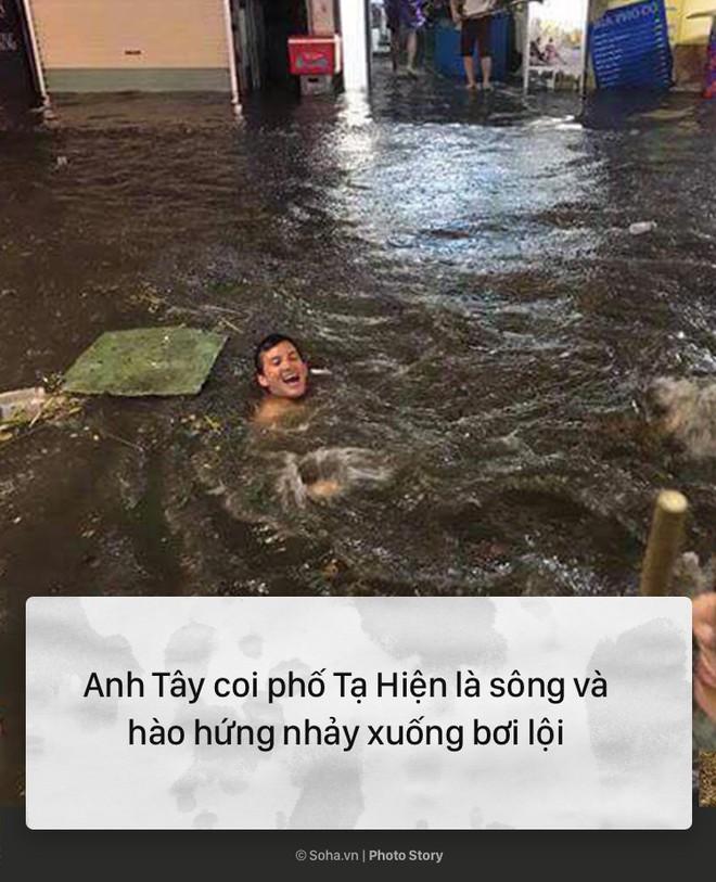 [PHOTO STORY] 10 hình ảnh ấn tượng nhất tại Hà Nội trong cơn mưa lớn tối 12/5 - Ảnh 3.