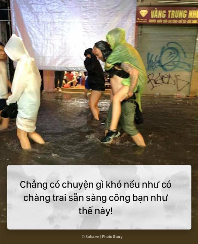 [PHOTO STORY] 10 hình ảnh ấn tượng nhất tại Hà Nội trong cơn mưa lớn tối 12/5 - Ảnh 8.