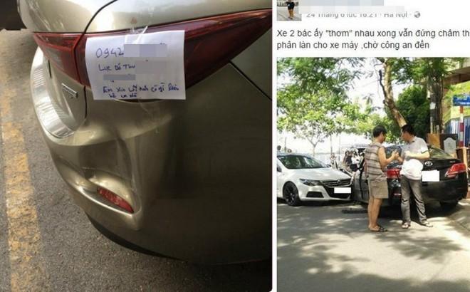 Mẩu giấy để sau va chạm giao thông khiến dân mạng tán thưởng