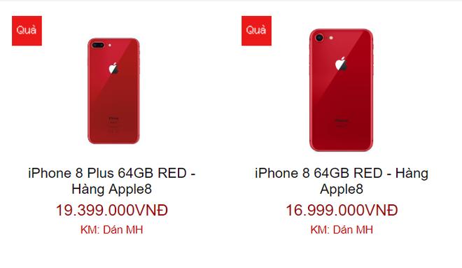 iPhone 8 màu đỏ xách tay giảm giá, tụt mốc 20 triệu đồng - Ảnh 1.
